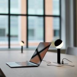 Lampe BUSBY LED Boule à encastrer avec port USB H23 cm
