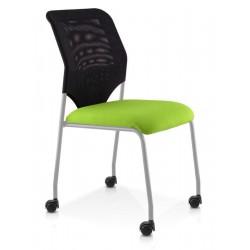 Chaise 4 pieds  Noirs sur roulettes CLOE