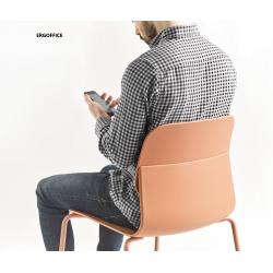 Chaise assise dossier PP pieds métal KLIK