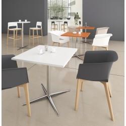 Table Carrée 80 X 80 cm Pied Croix Haut 73.5 / Haut 104.5