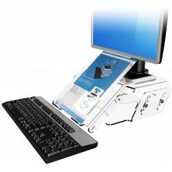 Rehausseur écran réglable hauteur avec support document ADDIT