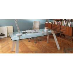 Table TORONTO 160 x 100 cm verre
