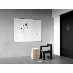 Wood tableau blanc