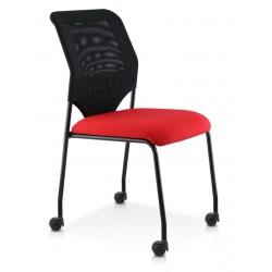 CLOE chaise 4 pieds  Noirs sur roulettes