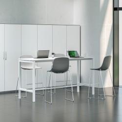 Table Haute  Long 140 cm- Pieds Arche