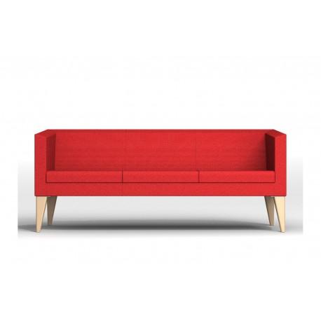 punta canap 3 places pieds bois. Black Bedroom Furniture Sets. Home Design Ideas