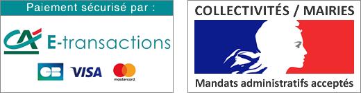 E-transactions Credit Agricole et Mandats Administratifs