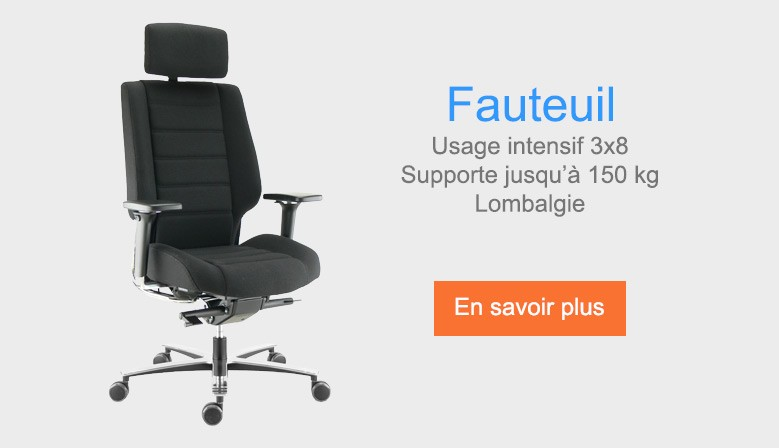Usage intensif 3x8, supporte jusqu'à 150kg, lombalgie